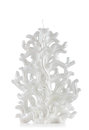 Christmas candle shaped like a christmas tree on white background Stock Images