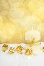 Christmas Candle On Snow