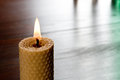Christmas candle still life with and unfocused background Stock Photography