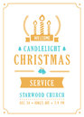 Christmas Candlelight Service Church Invitation