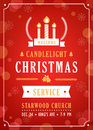 Christmas Candlelight Service Church Invitation.