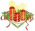 Christmas candles Stock Images