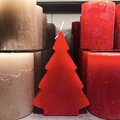 Christmas candles of different shapes Royalty Free Stock Photo