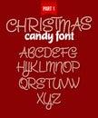 Christmas Candy Cane Alphabet....