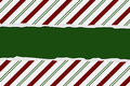 Christmas Candy Cane Striped background Stock Photography