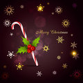 Christmas candy cane stylish background Royalty Free Stock Photo