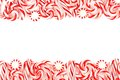 Christmas candy double border over white Royalty Free Stock Photo