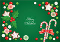 Christmas candy postcard Stock Photo