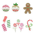 Christmas candy set Royalty Free Stock Images
