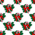 Christmas candy stick seamless pattern for holiday background design Stock Photos