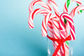 Christmas candy traditional white and red Royalty Free Stock Images