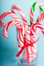 Christmas candy traditional white and red Stock Image