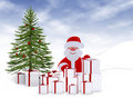 Christmas card - 3d illustration Royalty Free Stock Photo