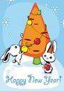 Christmas card 4. Stock Photography