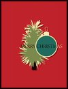 Christmas card with abstract fir tree Royalty Free Stock Photos