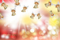 Christmas card angels flying Stock Image