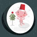 Christmas card with baby boy vector illustration Royalty Free Stock Images