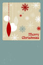 Christmas card with balls and snowflakes place for your text Royalty Free Stock Image