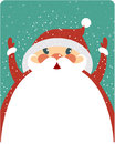 Christmas card with big santa Stock Photography