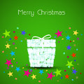 Christmas card box Stock Images