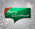 Christmas card, bubble / quote shape Royalty Free Stock Photo