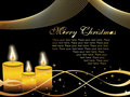 Christmas card with candle, wave illustration Royalty Free Stock Images
