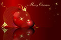 Christmas card a with colored balls Royalty Free Stock Photos