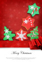 Christmas card with cookies Royalty Free Stock Photos