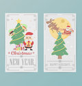 Christmas card design layout template b eps Stock Image