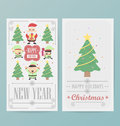 Christmas card design layout template eps Royalty Free Stock Photography