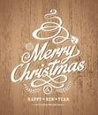 Christmas Card Design On Wood ...