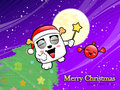 Christmas card fun dancing with the bomb. Christmas Card Design Royalty Free Stock Images