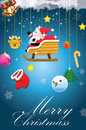 Christmas card funny with santa claus Royalty Free Stock Photography