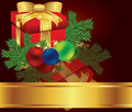 Christmas card gift background vector illustration Royalty Free Stock Photography