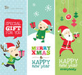 Christmas card greeting gift tag and templates design Royalty Free Stock Image
