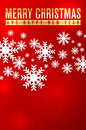 Christmas card happy new year with snowflakes and place for your text Stock Photography