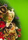 Christmas card holiday on a green background Royalty Free Stock Images