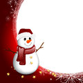 Christmas card illustration of a decorative background with snowman Royalty Free Stock Photos
