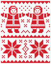 Christmas  card - knitted pattern Royalty Free Stock Photos
