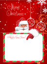 Christmas Card. Merry Christmas lettering Royalty Free Stock Photos