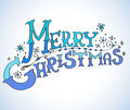 Christmas Card, Merry Christmas lettering Royalty Free Stock Images