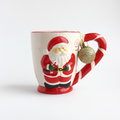 Christmas card red santa mug stock photos isolated on white background Royalty Free Stock Photography