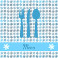Christmas card for restaurant menu Royalty Free Stock Photo