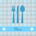 Christmas card for restaurant menu