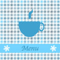 Christmas card for restaurant menu, with tea cup Royalty Free Stock Photo