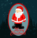 Christmas card with santa claus illustration Stock Image