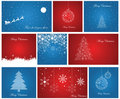 Christmas card set. Royalty Free Stock Photo