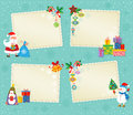 Christmas card set of greeting and new year cards Stock Images