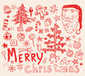 Christmas card set. Vector illustration