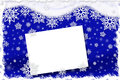Christmas card with snowflakes on dark blue background abstract Royalty Free Stock Photos